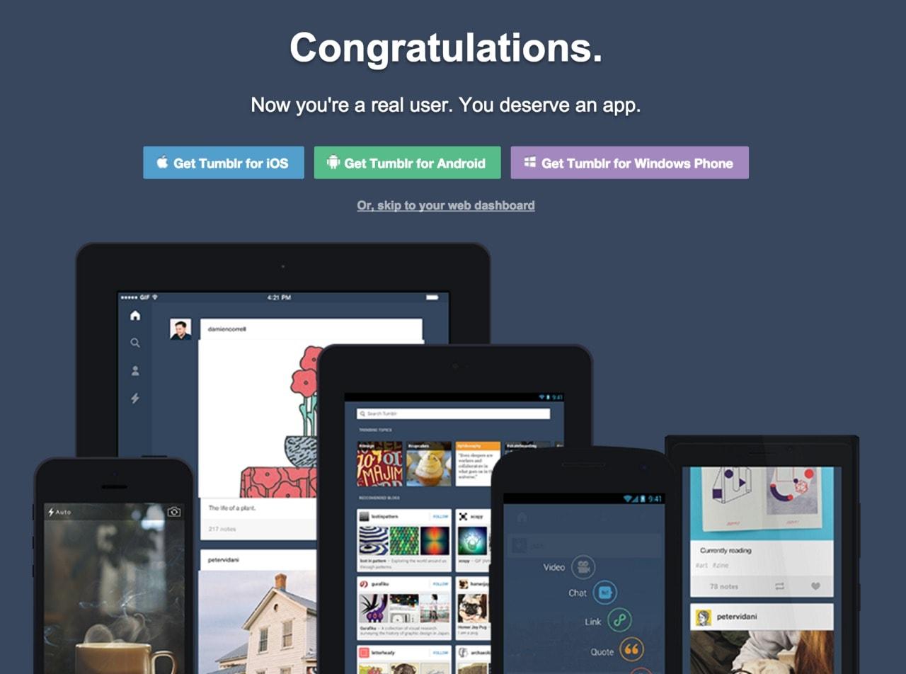 Congratulation page Congrats Web  - UI Garage - The database of UI