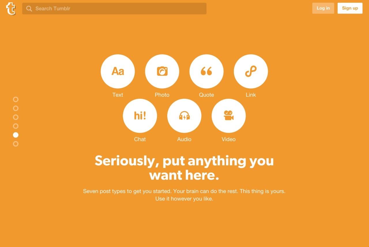 Inspiration Landing Page Tumblr - UI Garage