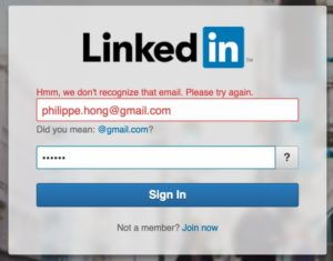 @linkedin #login #error #uigarage 15