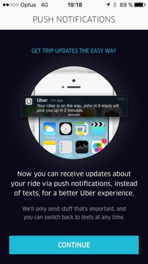 permission #ui #inspiration @uber #ios from UIGarage