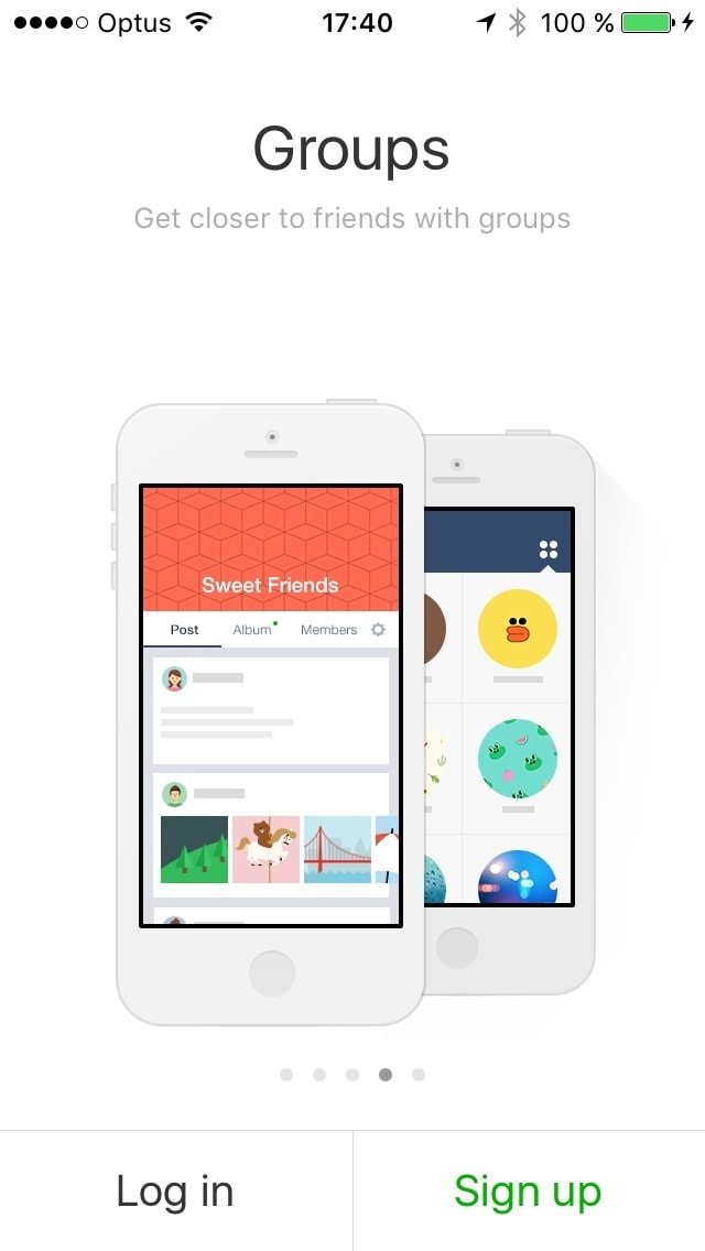 onboarding #ui #inspiration #ios @lineappworld from UIGarage