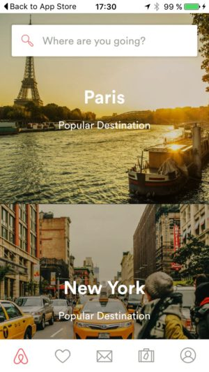 Home page @airbnb #ui #inspiration #interface #ios #design from UIGarage
