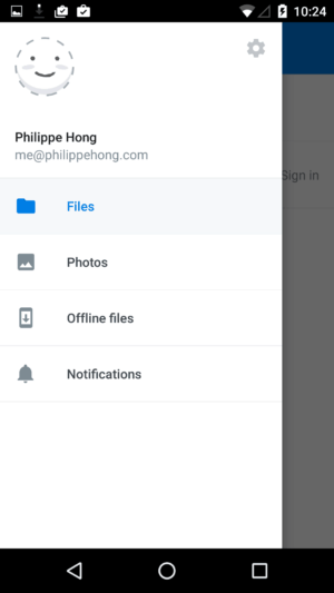 Menu @dropbox #ui #inspiration #interface #materialdesign #design #android from UIGarage