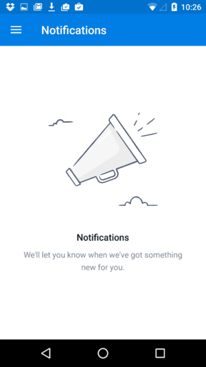 Empty message @dropbox #ui #inspiration #interface #materialdesign #design #android from UIGarage