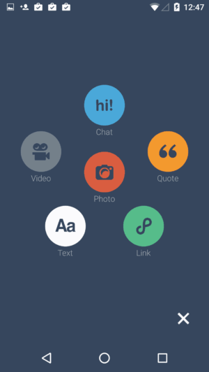 Create screen @tumblr #ui #inspiration #interface #materialdesign #design #android from UIGarage