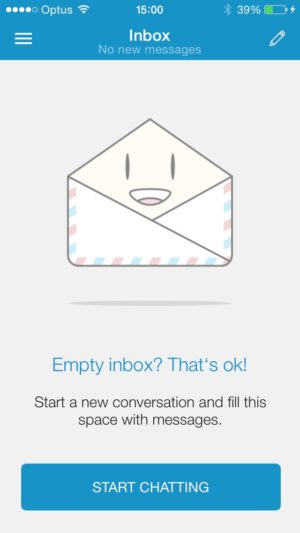 Empty state @freelancer message #ui #inspiration #interface #ios #design #iphone from UIGarage