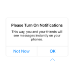 Ask permission @messenger #ui #inspiration #interface #ios #...