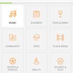Select categories screen @eventbrite #ui #inspiration #inter...