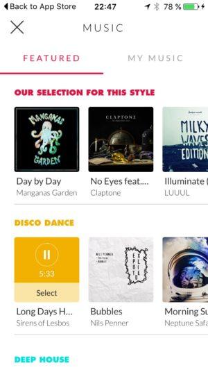 Select your music screen @replay #ui #inspiration #interface #ios #design #iphone 6