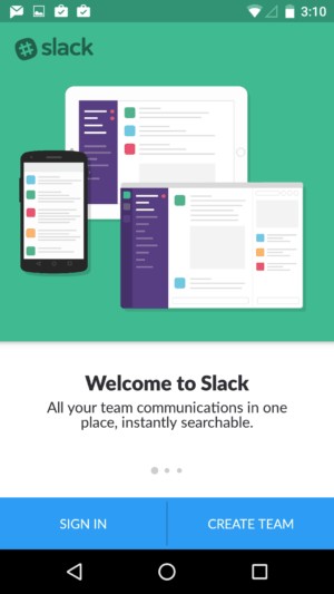 Onboarding @slackHQ #ui #inspiration #interface #materialdesign #design #android from UIGarage