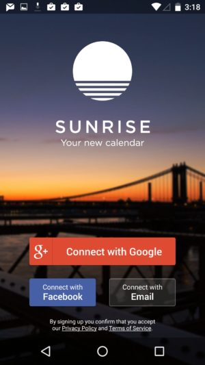 Login page @sunrise #ui #inspiration #interface #materialdesign #design #android 5