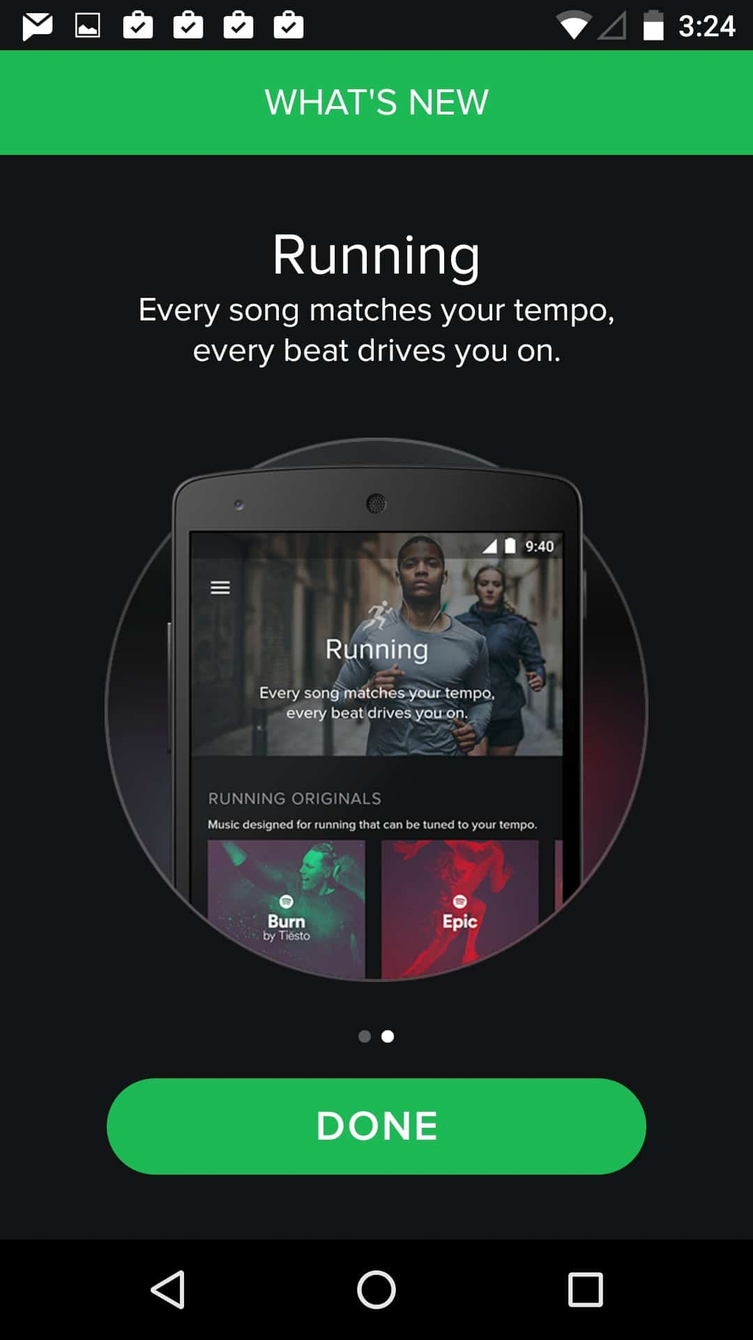 What's new screen @spotify #ui #inspiration #interface #materialdesign #design #android What's new  - UI Garage - The database of UI