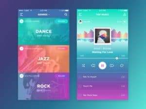 Music player #ui #inspiration #interface #ios #design #iphone https://dribbble.com/shots/2348319-Music-App from UIGarage