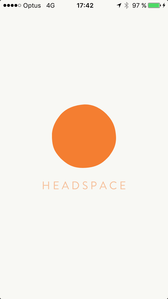 Launch screen @get_headspace #ui #inspiration #interface #ios #design All iOS Launch Screen  - UI Garage - The database of UI