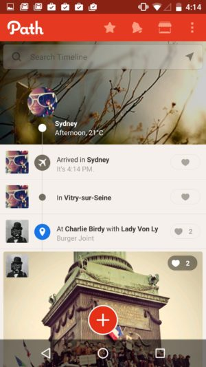 Timeline screen @path #ui #inspiration #interface #android #design from UIGarage
