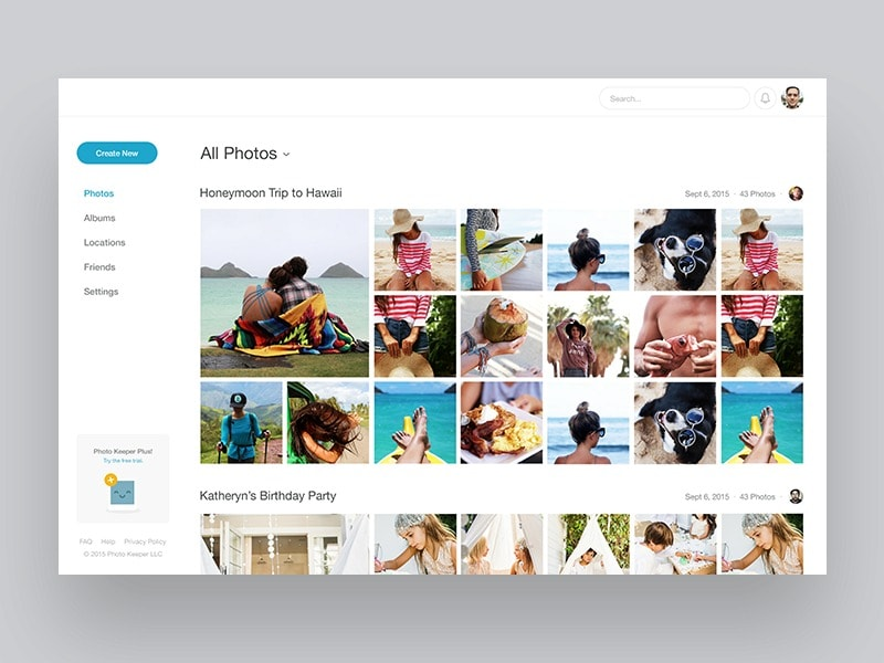 Photo Gallery Screen by @madebynotch #ui #inspiration #interface #ios #design Gallery Web  - UI Garage - The database of UI
