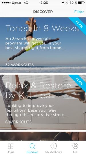 Discover screen @zovafit #ui #inspiration #interface #ios #design #iphone from UIGarage
