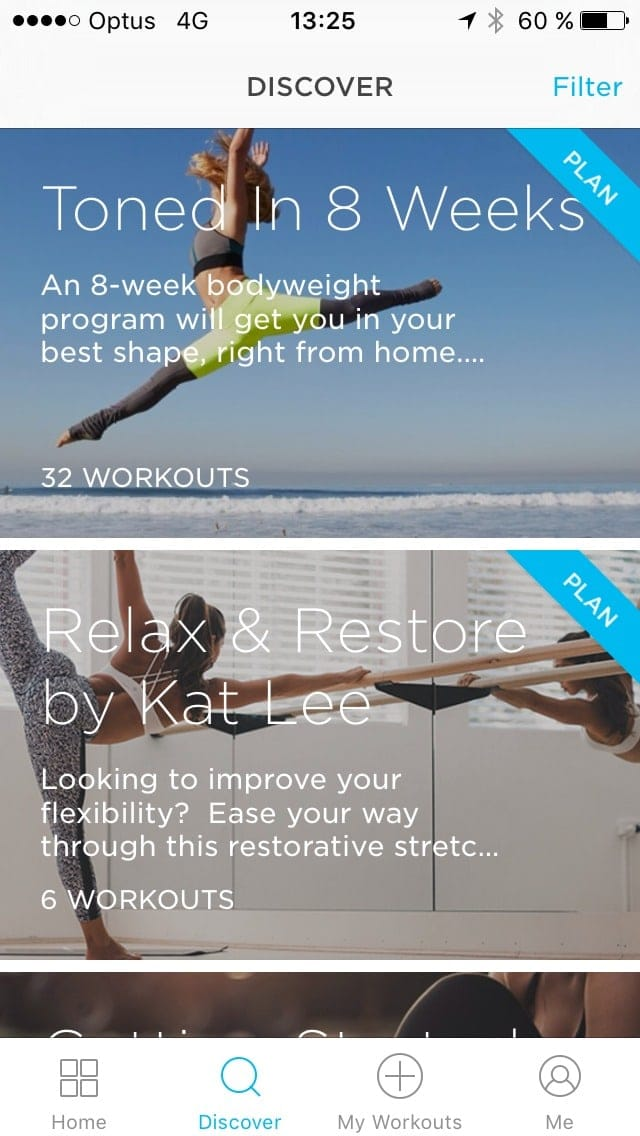 Discover screen @zovafit #ui #inspiration #interface #ios #design #iphone Browse iOS  - UI Garage - The database of UI