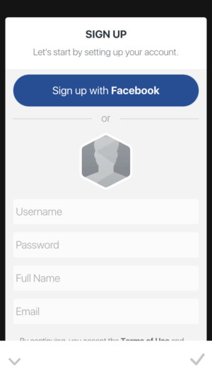 Signup by @facet.nation #ui #inspiration #interface #ios #design #iphone from UIGarage