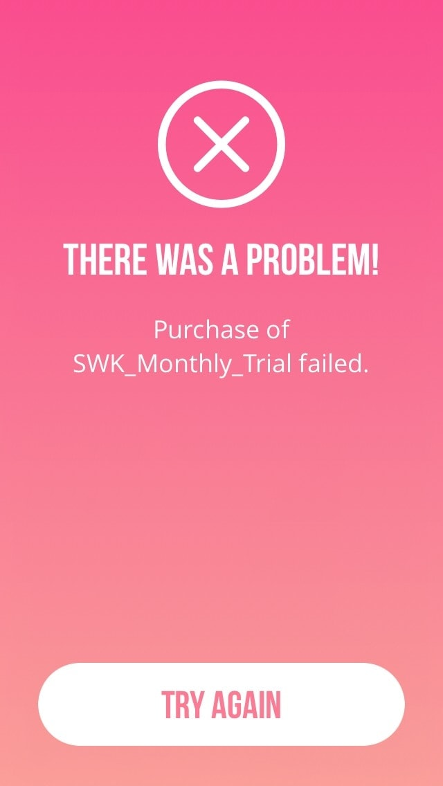 Error message by Sweat by @kayla_itsines #ui #inspiration #interface #ios #design #iphone from UIGarage