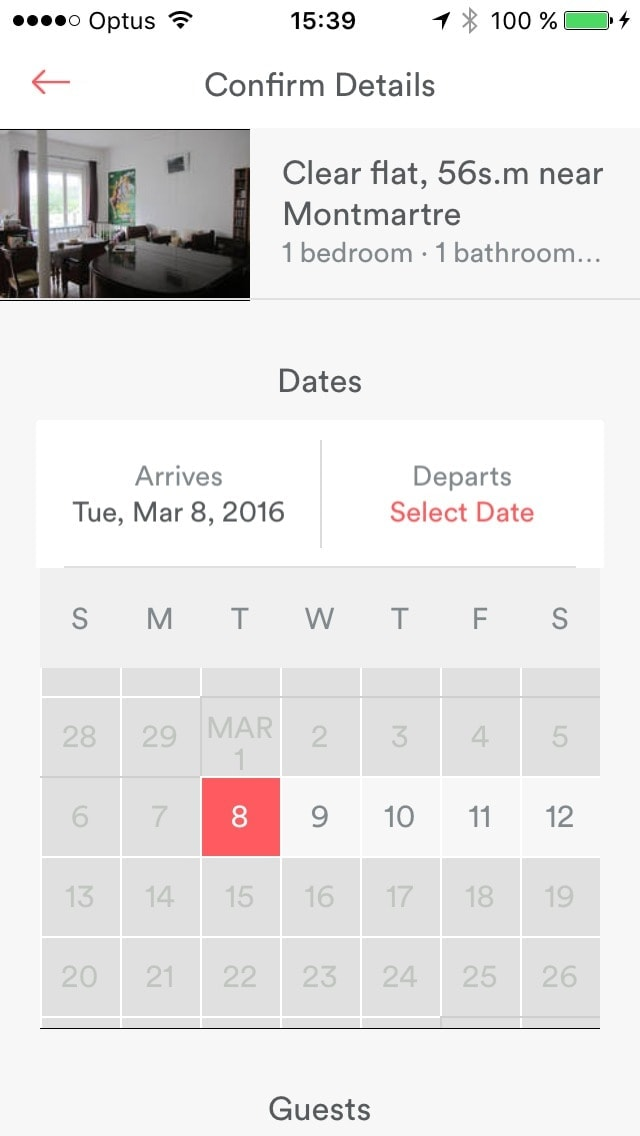 Date picker by @airbnb #ui #inspiration #interface #ios #design #iphone Datepicker iOS  - UI Garage - The database of UI