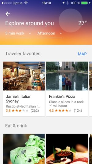 Explore/Browse page by @googlemaps #ui #inspiration #interface #ios #design #iphone from UIGarage