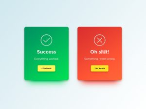 Congrats & error messages by Denis Abdullin #ui #inspiration #interface #web #design from UIGarage