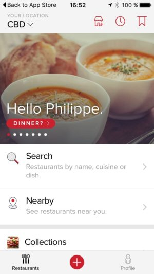 Homepage by @zomato #ui #inspiration #interface #ios #design #iphone from UIGarage