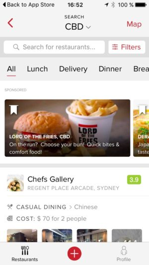 Category page by @zomato #ui #inspiration #interface #ios #design #iphone from UIGarage