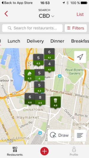 Map view by @zomato #ui #inspiration #interface #ios #design #iphone 5