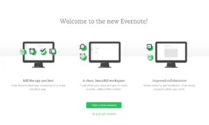 What's New @Evernote page #ui #inspiration #interface #web #design from UIGarage