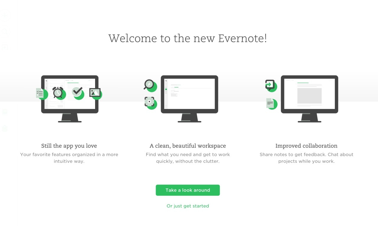 What's New @Evernote page #ui #inspiration #interface #web #design What's new  - UI Garage - The database of UI