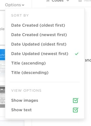 Dropdown filter @evernote web #ui #inspiration #interface #web #design from UIGarage