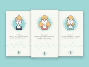 Voice recording personal assistant by @smlkm #ui #inspiration #interface #ios #design from UIGarage