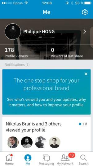 Profile screen @linkedin #ui #inspiration #interface #ios #design #iphone 12