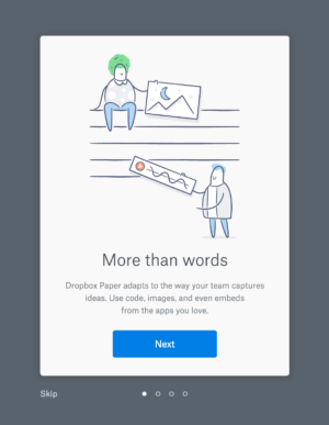 Onboarding on @dropbox paper #ui #inspiration #interface #web #design from UIGarage