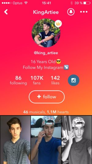 Profile page @musicallyapp #ui #inspiration #interface #ios #design #iphone from UIGarage