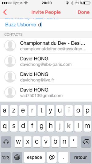 Add Invite List @sunrise #ui #inspiration #interface #ios #design #iphone from UIGarage