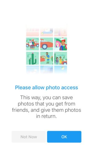 Ask photo permission by Moments @facebook #ui #inspiration #interface #ios #design #iphone 15