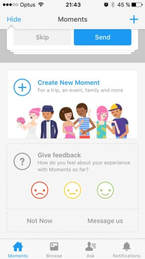 Advertising banners by Moments @facebook #ui #inspiration #interface #ios #design #iphone 9