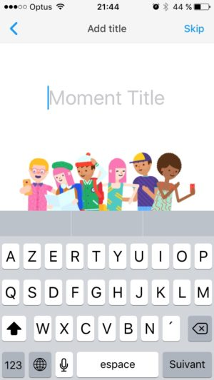 Create screen by Moment @facebook #ui #inspiration #interface #ios #design #iphone from UIGarage