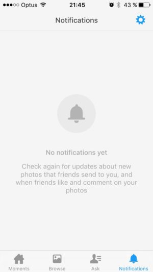 Empty states by Moments @facebook #ui #inspiration #interface #ios #design #iphone 5