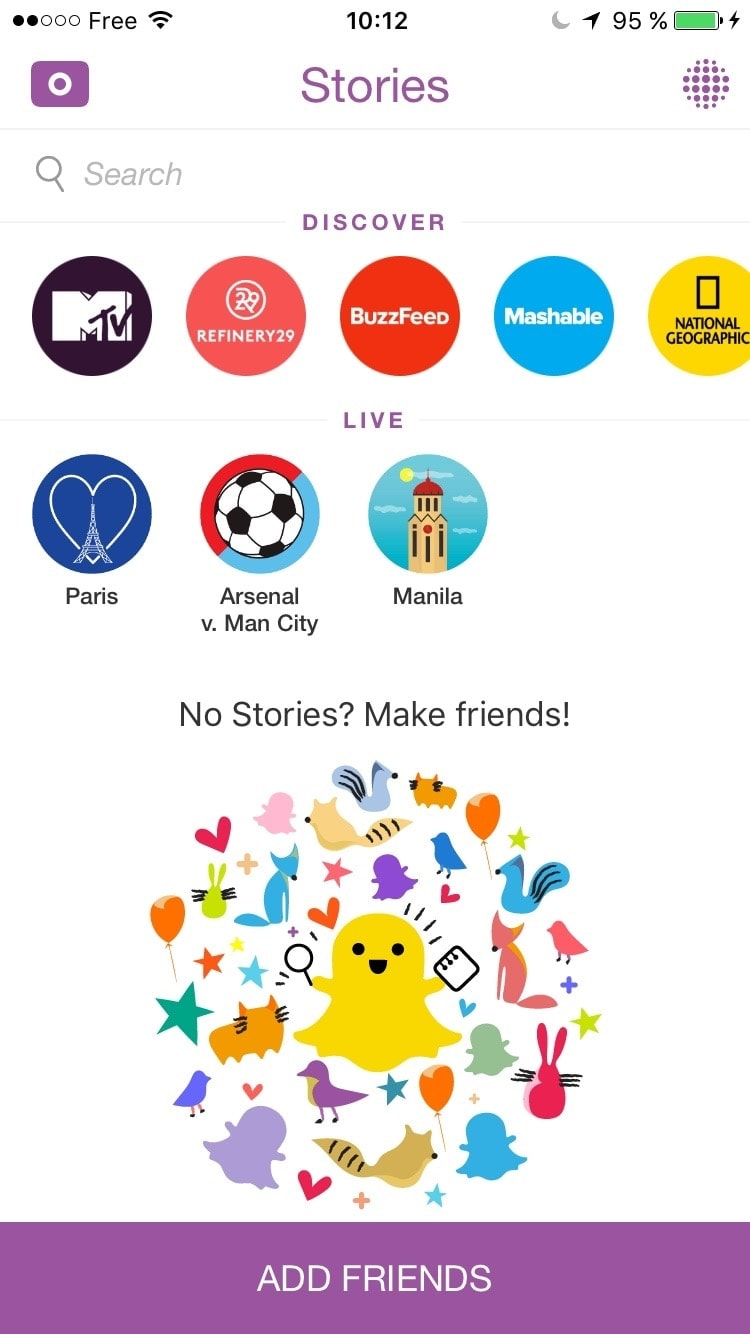 Empty States @Snapchat #ui #inspiration #interface #ios #design #iphone Empty States iOS  - UI Garage - The database of UI