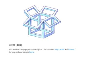 404 page by @dropbox web #ui #inspiration #interface #web #design from UIGarage
