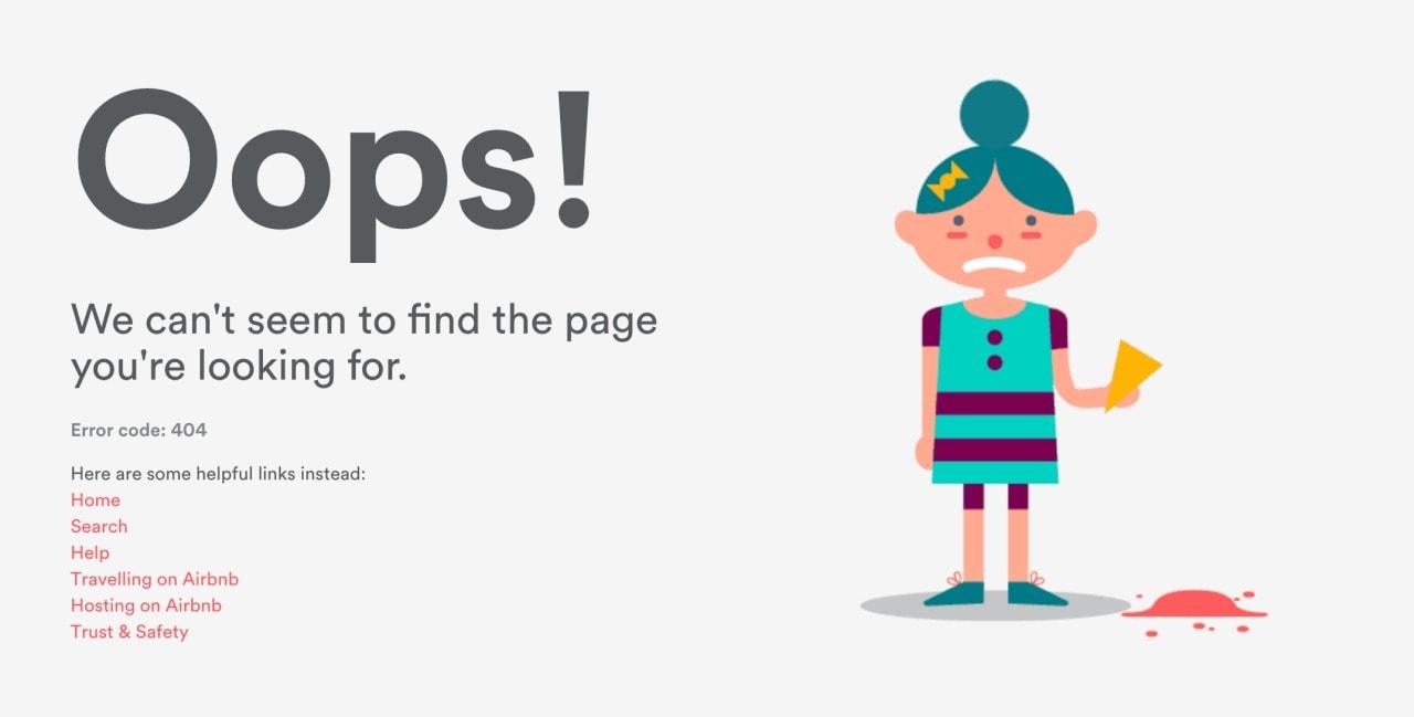 404 page @airbnb web #ui #inspiration #interface #web #design 404 Web  - UI Garage - The database of UI