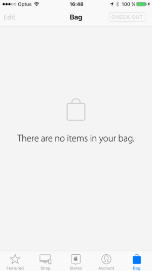 Empty state by @apple Store #ui #inspiration #interface #ios #design #iphone from UIGarage