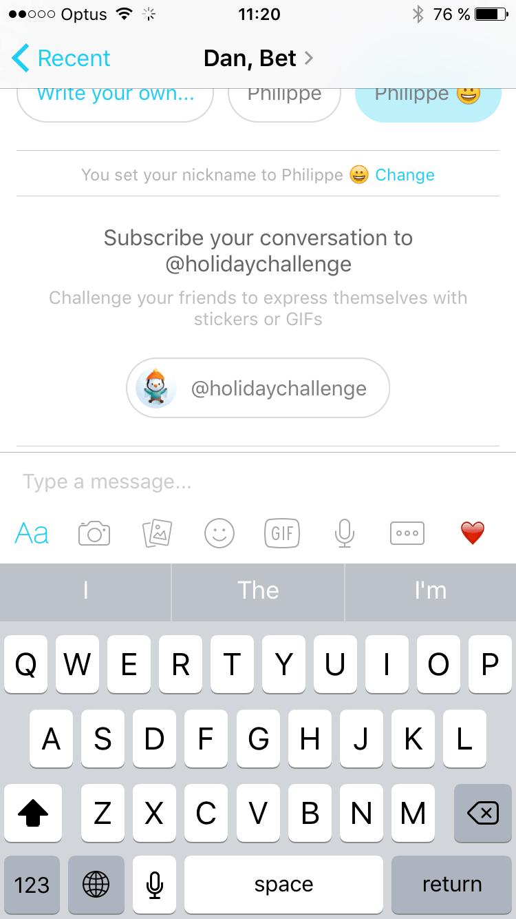 Customizing on @facebook Messenger #ui #inspiration #interface #ios #design #iphone from UIGarage