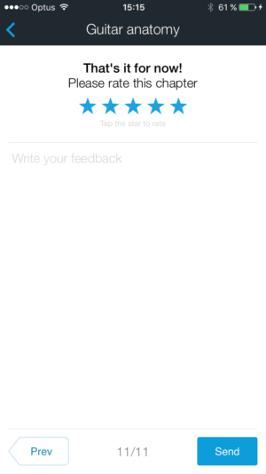 Rating by @ultimateguitar #ui #inspiration #interface #ios #design #iphone from UIGarage