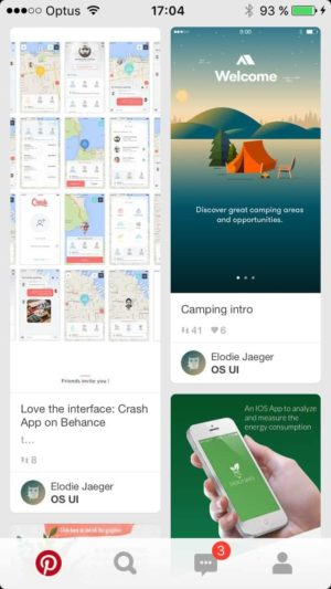 Homepage by @pinterest #ui #inspiration #interface #ios #design from UIGarage