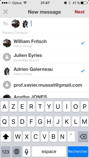 Select contact by @pinterest #ui #inspiration #interface #ios #design from UIGarage